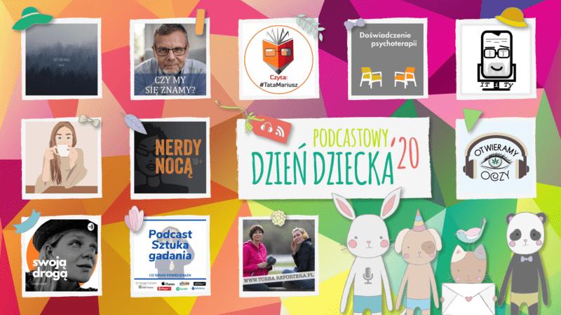 Podcastowy Dzień Dziecka 2020 na #TataMariusz; Rys. Kaja Mikoszewska